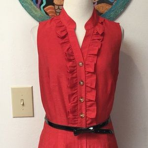 NWOT Coldwater Creek Reddish Orange Dress Size 8